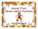 Animal Print Seven Habits Posters
