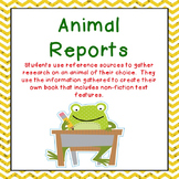 Animal Reports with Nonfiction Text Features