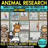 Animal Research Writing Packet w/ Templates grades 2-5