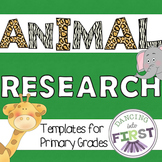 Animal Research templates- Primary Grades