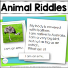 Animal Riddle Cards