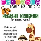 Newsletter Templates (14 included): Animal Safari Theme