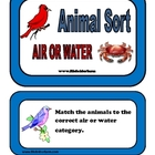 Animal Sort - Air or Water Folder Game