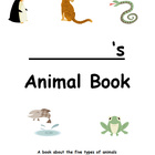 Animal research booklet: mammals, birds, reptiles, amphibi