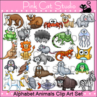 Animals Alphabet Clip Art Set - Beginning Sounds Clipart