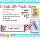 Animals With Pencils Themed Classroom Set
