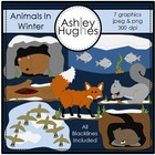 Animals in Winter {Graphics for Commercial Use}