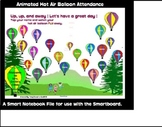 Animated Hot Air Balloon Attendance for the Smartboard