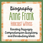 Anne Frank: Her Life and Times - Informational Texts, Acti