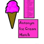 Antonym Ice Cream Match