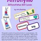 Antonyms / Differentiated Skill Levels
