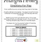 Antonyms Memory (Aligned with Common Core Standards)