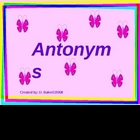 Antonyms Practice Power Point Presentation