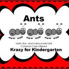 Ants:  Math, ELA, and Science Mini Unit
