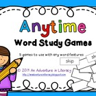 Anytime Word Study Games to use with any Word Feature or Pattern