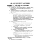 AP GOVERNMENT-Course Lectures