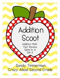 Addition Scoot Math Game Sums to 10 Set A
