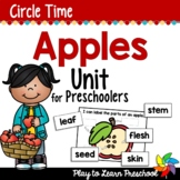 Apple Centers and Circle Time Preschool Unit