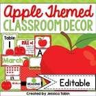 Apple Classroom Decor Pack (Chalkboard and Chevron Designs)