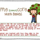 Apple (Common) Core Math Games-Beginning of Year