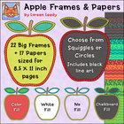 Apple Frames + Digital Papers {Clip Art for Personal or Co