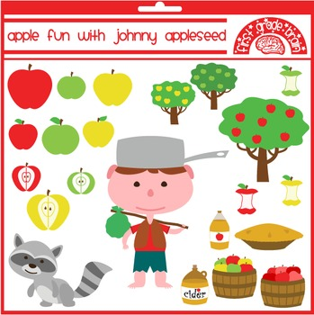 Apple Fun with Johnny Appleseed Clipart Graphics for Perso