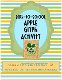 Apple Glyph Activity (Back to School Math & Language Arts Poetry)