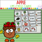 Apple Life Cycle- Vocabulary Cards and Printable