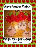 Apple Math Match Math Center Game