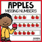 Apple Math Work Station Missing Numbers 0-30 {FREE}