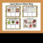 Apple Memory Match Mats