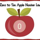 Apple Number Line - Zero to Ten