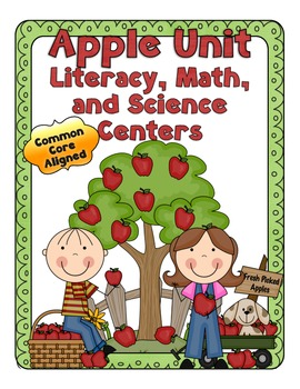 Apple Printables and Apple Theme Centers ~ CCSS