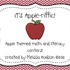 Apple-Riffic Math and Literacy Center Activities