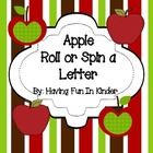 Apple Roll or Spin a Letter Activity