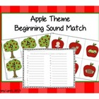 Apple Theme Beginning Sound Matching