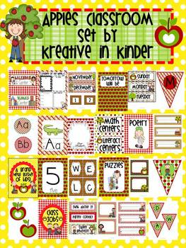 Apple Theme Classroom Decor for Beginning of Year