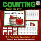 Apple Theme Counting Cards~ Numbers 1 to 20