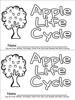 Apple Tree Life Cycle Emergent Reader for Kindergarten