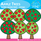 Apple Trees - Color & Line Art Clip Art for Teaching & Teachers
