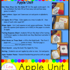 Apple Unit Printables