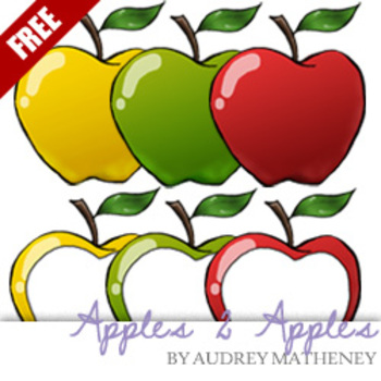 Apples 2 Apples FREE {Graphics for Commercial Use}