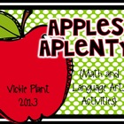 Apples Aplenty {Language Arts and Math Activities}