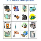 Haushaltsgerate (Appliances in German) Bingo game