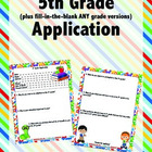 Application to 5th Grade