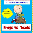 FROGS and TOADS {Applying the Common Core Reading & Writin