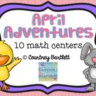 April Adventures math centers