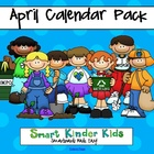 April Calendar Pack/Morning Meeting for Smartboard