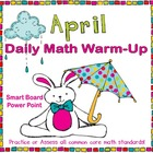 April Daily Math Warm-Up (1st Grade Common Core)