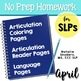 April Homework Packet for Speech Language Pathology